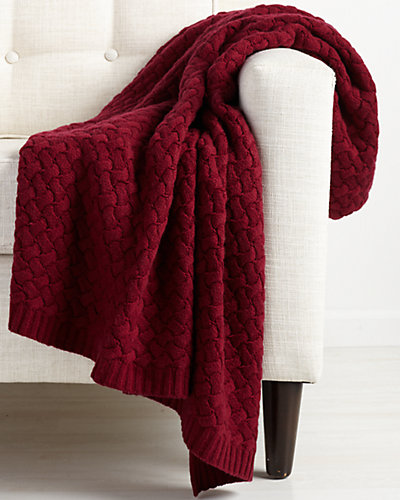 Sofia Cashmere Basketweave Throw