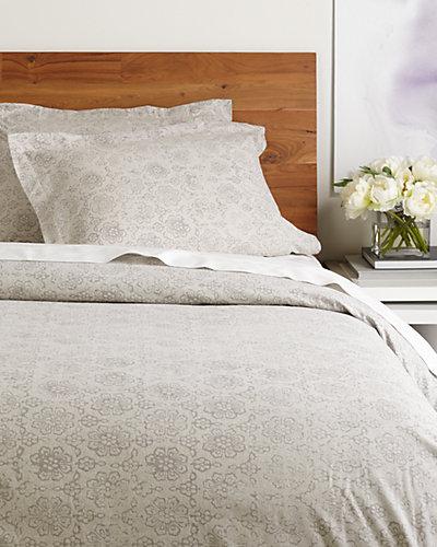 Belle Epoque Distressed Floral Flannel Duvet Set