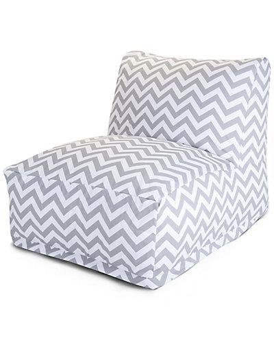 Gray Chevron Bean Bag Chair Lounger