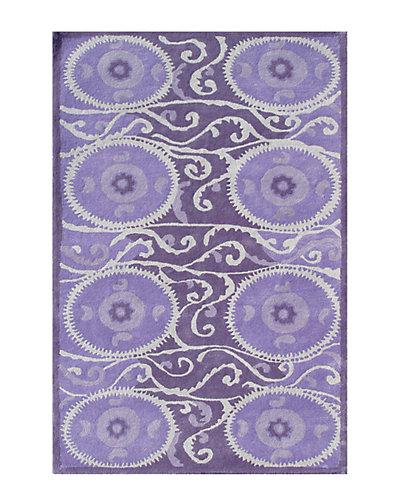 Suzani Tile Lavender Tufted  8ft x 11ft Rug