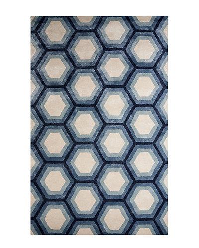Blue Hand-Tufted 5ft x 8ft, Rug