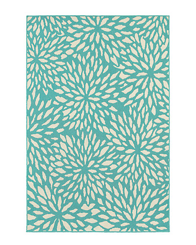 Outdoor Floral Indoor/Outdoor Rug