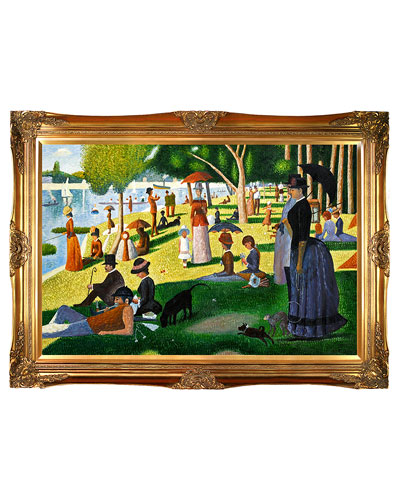 Sunday Afternoon on the Island of La Gran by Georges-Pierre Seurat Oil Reproduction