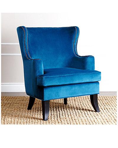 Lauren Fabric Nailhead Trim Armchair