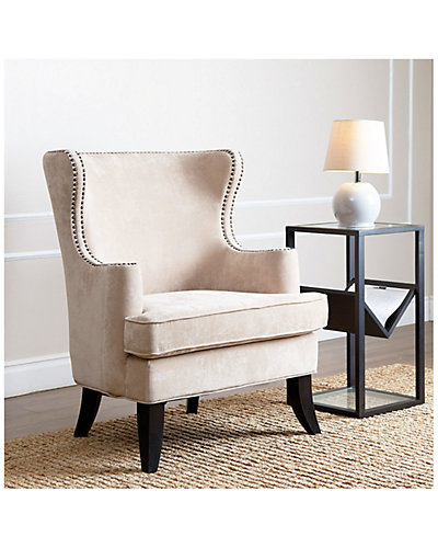 Lauren Fabric Nailhead Trim Armchair