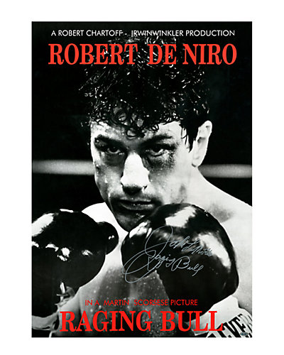 "Jake LaMotta Signed ""Raging Bull"" Movie Poster  by Steiner Sports"