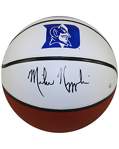 Steiner Sports Mike Krzyzewski Signed Duke University White Panel Basketball
