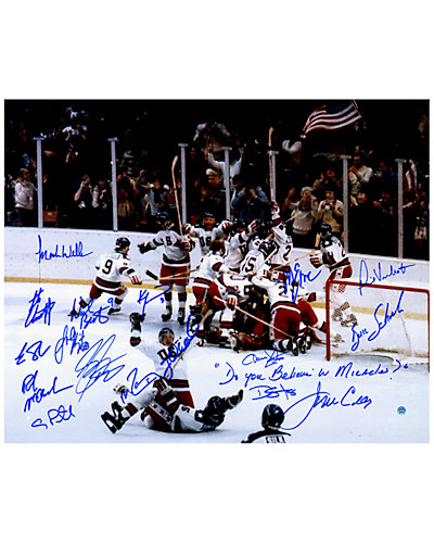1980 USA Hockey Team Signed 16x20 Photograph