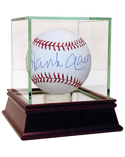 """Hank Aaron Signed """"HOF 82"""" MLB Baseball"""