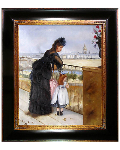 Woman and Child on a Balcony by Berthe Morisot Reproduction