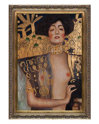 "Hand-Painted Museum Masters ""Judith Klimt I"" by Gustav Klimt"