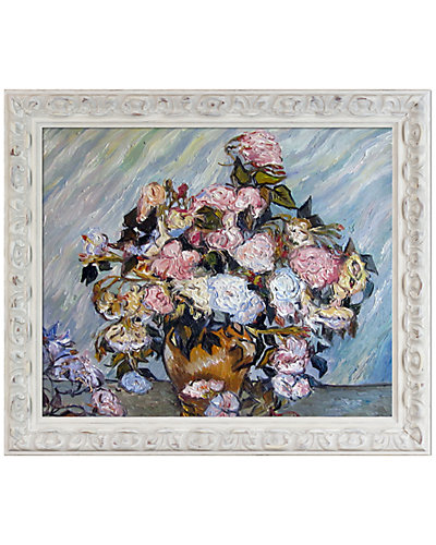 Still Life Vase with Roses by Vincent Van Gogh Oil Reproduction
