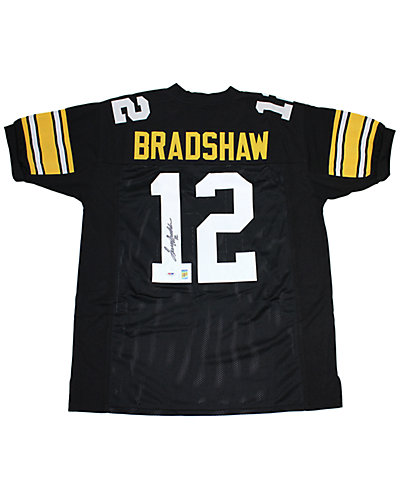 Terry Bradshaw Signed Black Pittsburgh Steelers Jersey  by Steiner Sports