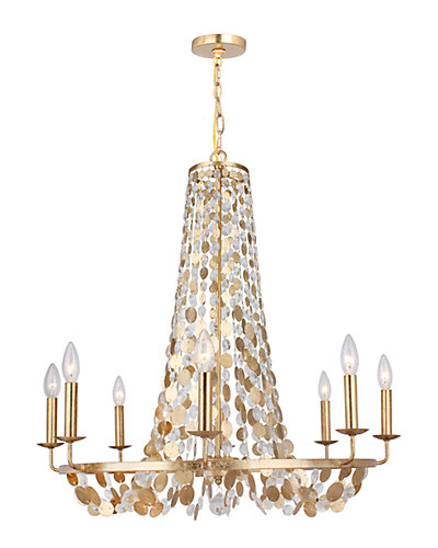 Bella 8-Light Antique Gold Chandelier
