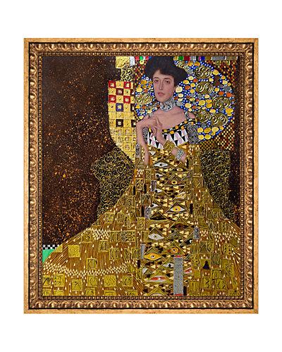 Portrait of Adele Bloch Bauer I Metallic Embellished by Gustav Klimt Oil Reproduction