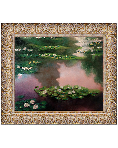 Water Lilies, Green and Violet, Metallic Embellished by Claude Monet