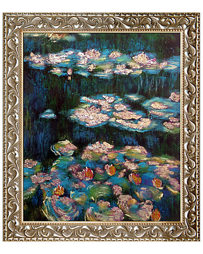 Water Lilies, Metallic Embellished by Claude Monet