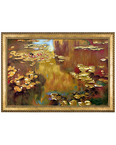 Water Lilies Metallic Embellished by Claude Monet Reproduction