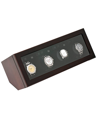 Brookstone Watch Winder Quadruple Walnut