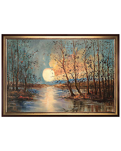 Moon (Reflections) by Justyna Kopania Framed Hand Painted Oil Reproduction