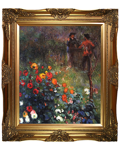Garden in the Rue Cortot Montmartre by Pierre-Auguste Renoir Framed Hand Painted Oil Reproduction