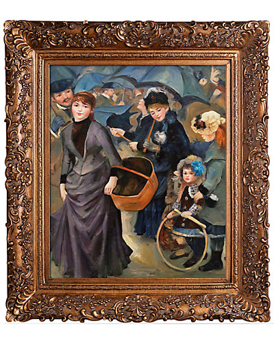 The Umbrellas by Pierre-Auguste Renoir Framed Hand Painted Oil Reproduction