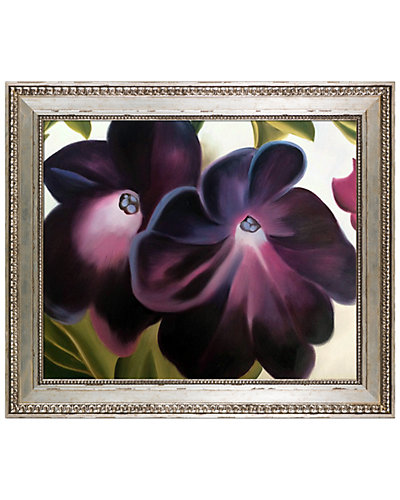 Black and Purple Petunias, 1924 by Georgia O'Keeffe Framed Hand Painted Oil Reproduction