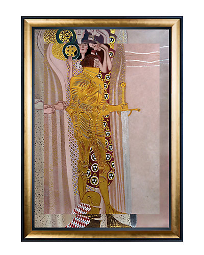 Beethoven Frieze, The Well-Armed Strong, Compassion and Ambition, 1902 by Gustav Klimt Oil Reproduction