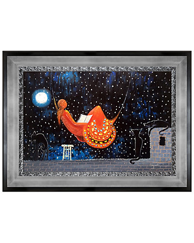 Night (Moon Over The City) by Justyna Kopania Oil Reproduction