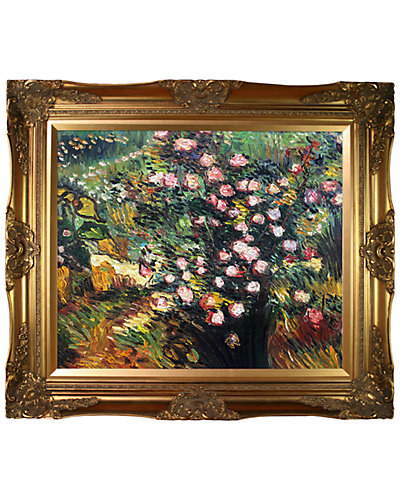 Rosebush in Blossom by Vincent Van Gogh Oil Reproduction