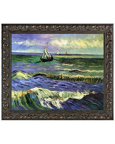 Seascape at Saintes maries by Vincent Van Gogh Oil Reproduction