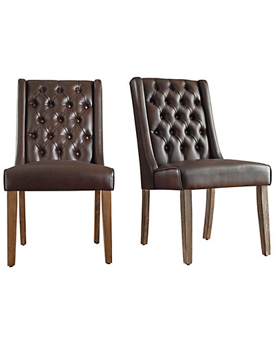 Set of 2 Tufted Back Chairs