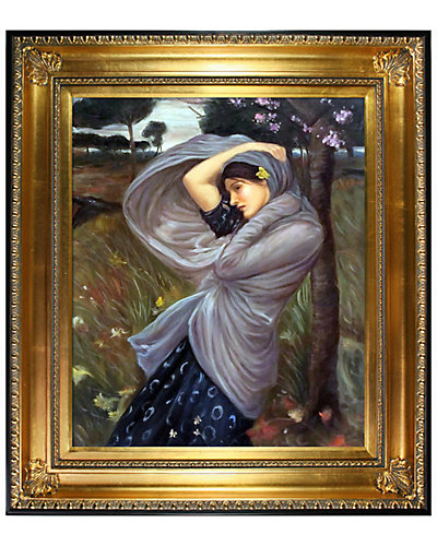 Boreas by John William Waterhouse Framed Hand Painted Oil Reproduction