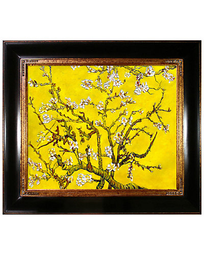 Branches of an Almond Tree in Blossom Citrine Yellow by La Pastiche Reproduction