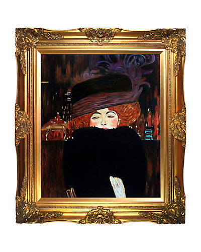 """""""Lady with Hat and Feather Boa"""" by Gustav Klimt"""