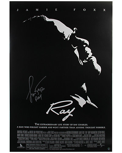 Jamie Foxx Signed Ray Movie Poster with Ray Inscription by Steiner Sports