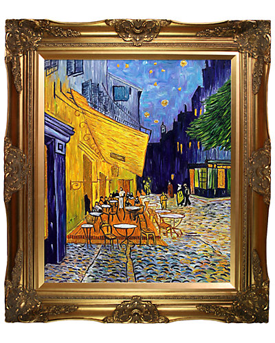 Cafe Terrace at Night (Luxury Line) by Vincent van Gogh Oil Reproduction
