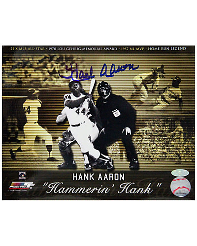 "Steiner Sports ""Hank Aaron ""Hammerin' Hank"" Collage"