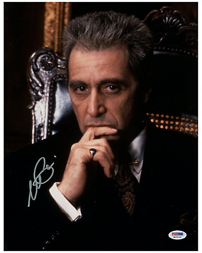 Al Pacino Signed Godfather Part 3 Photo by Steiner Sports