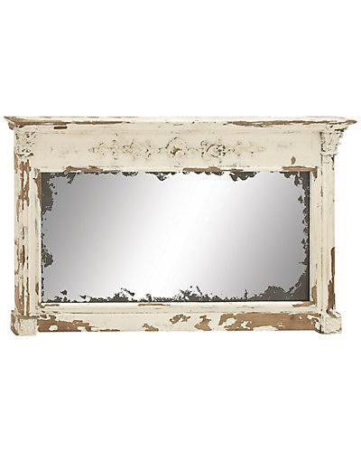 Oversized Wood Wall Mirror