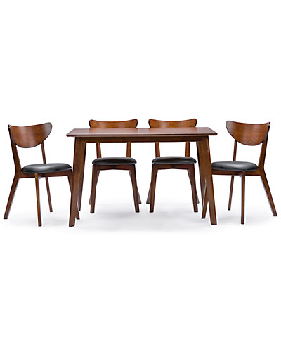 Baxton Studio Sumner 5pc Dining Set