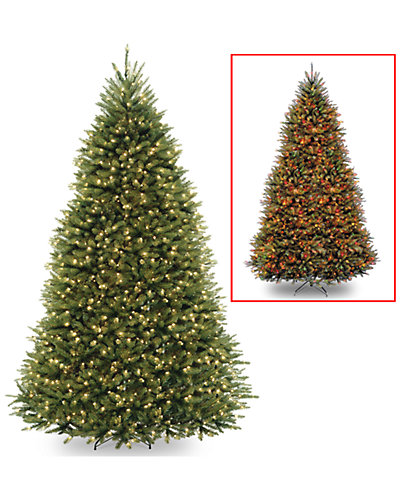 9ft Dunhill Fir Hinged Tree with 900 Dual Color Lights