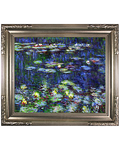 Water Lilies, Green Reflections by Claude Monet Hand-Painted Oil Reproduction