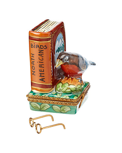 Rochard Limoges North American Book Of Birds With Removable Glasses
