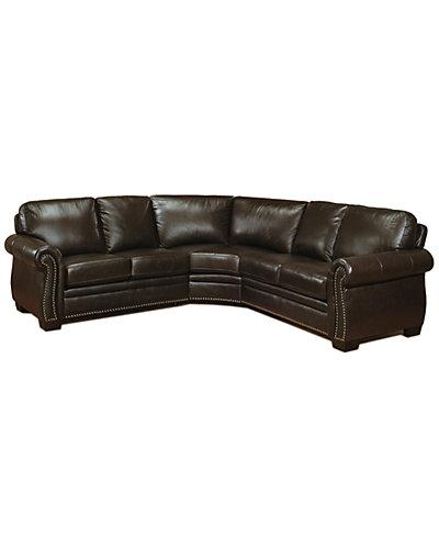 Hunter Top-Grain Leather Sectional Sofa