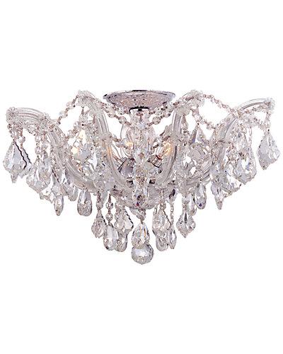 Maria Theresa 5-Light Clear Crystal Semi-Flush