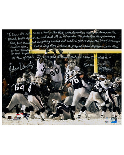 Adam Vinatieri Signed Snow Kick Story Photo