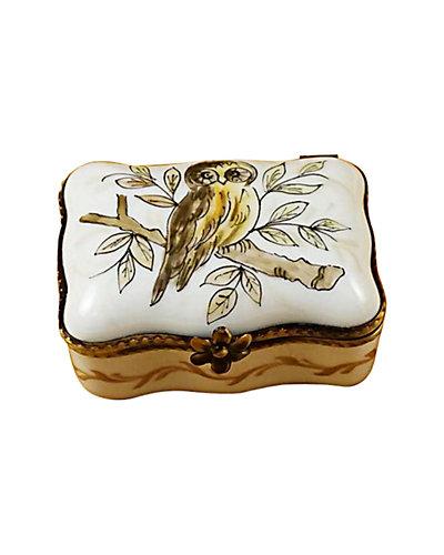 Rochard Limoges  Owl Rectangle Box