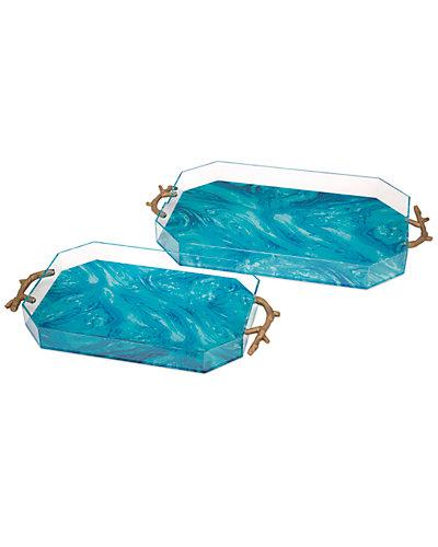 2pc Serene Acrylic Trays