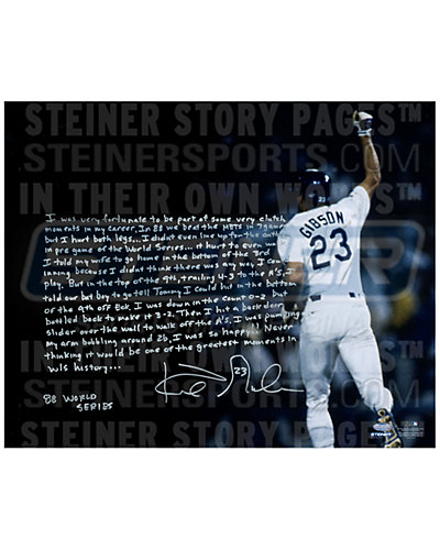 Kirk Gibson Signed Homerun Story Photo
